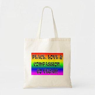 ビーガンは行きます! 虹のトートバック トートバッグ