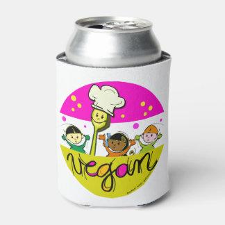 ビーガンまたはベジタリアンの料理の子供 缶クーラー