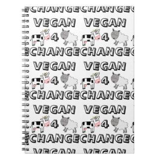 ビーガン4の変更牛ヒツジのノート ノートブック