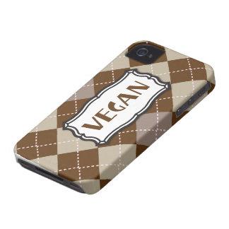 ビーガン(ブラウンのアーガイル) Case-Mate iPhone 4 ケース