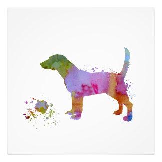 ビーグル犬およびおもちゃ フォトプリント