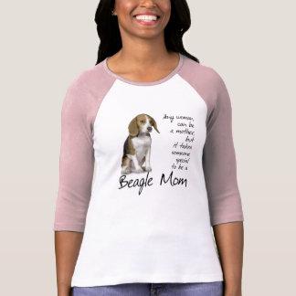 ビーグル犬のお母さんのワイシャツ Tシャツ