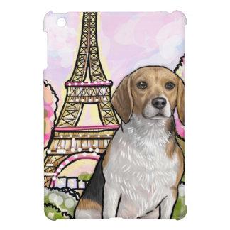 ビーグル犬のエッフェル塔パリ iPad MINIケース