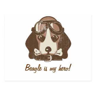 ビーグル犬のエース[編集可能] ポストカード