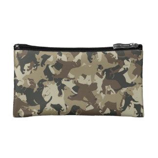ビーグル犬のカムフラージュ コスメティックバッグ