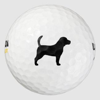 ビーグル犬のシルエット ゴルフボール