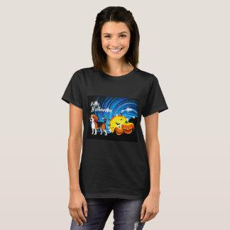 ビーグル犬のハッピーハローウィン Tシャツ
