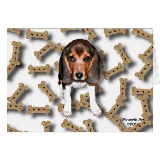 ビーグル犬のバースデー・カード カード