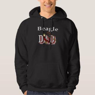 ビーグル犬のパパの服装のギフト パーカ