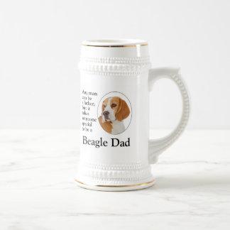 ビーグル犬のパパステイン ビールジョッキ