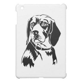 ビーグル犬のヘッド黒 iPad MINIケース