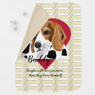 ビーグル犬のベビーブランケット ベビー ブランケット