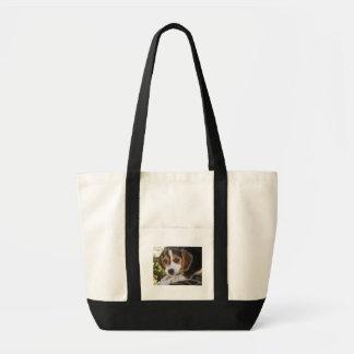 ビーグル犬のベビー犬 トートバッグ