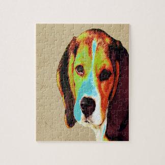 ビーグル犬のポップアート ジグソーパズル