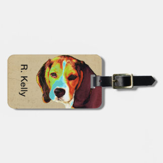 ビーグル犬のポップアート ラゲッジタグ