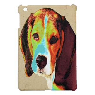 ビーグル犬のポップアート iPad MINIケース