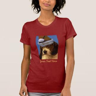 ビーグル犬のヴィンテージのクリスマスのTシャツ Tシャツ