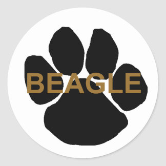 ビーグル犬の一流の足 ラウンドシール