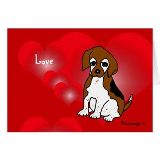 ビーグル犬の初恋カード カード