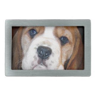 ビーグル犬の初恋 長方形ベルトバックル
