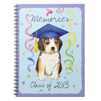 ビーグル犬の卒業生 ノートブック