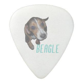 ビーグル犬の子犬のモデル-背景色をカスタマイズ アセタール ギターピック