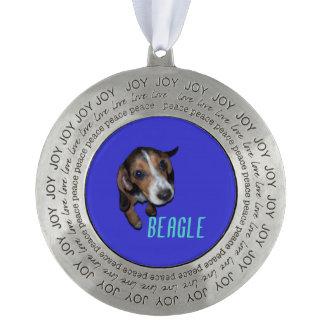 ビーグル犬の子犬のモデル-青い背景 オーナメント