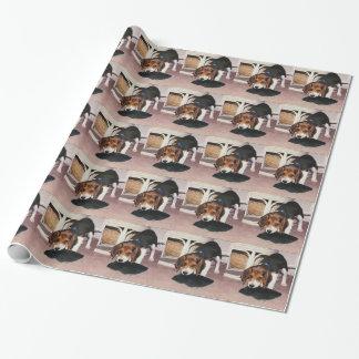 ビーグル犬の子犬の包装紙 ラッピングペーパー