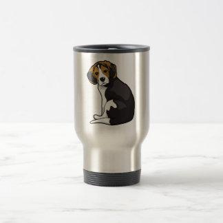 ビーグル犬の子犬 トラベルマグ