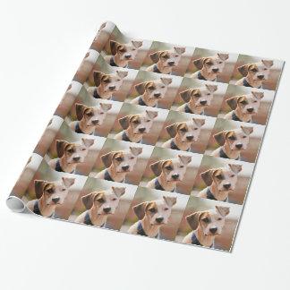 ビーグル犬の子犬 包み紙