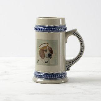 ビーグル犬の完全な天使のギフト ビールジョッキ