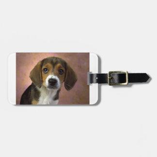 ビーグル犬の小犬 ラゲッジタグ