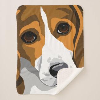 ビーグル犬の恋人のギフト シェルパブランケット