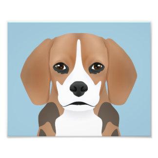 ビーグル犬の漫画 フォトプリント