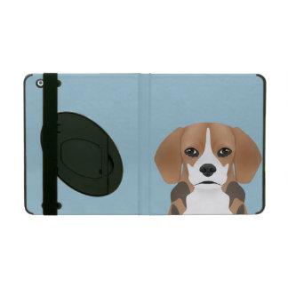 ビーグル犬の漫画 iPad ケース