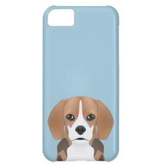 ビーグル犬の漫画 iPhone5Cケース