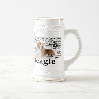 ビーグル犬の特性ステイン ビールジョッキ