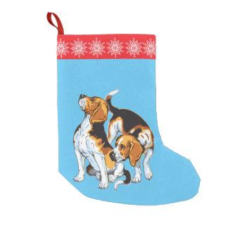 ビーグル犬の猟犬 スモールクリスマスストッキング