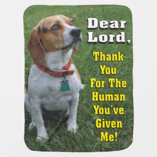 ビーグル犬の祈りの言葉の接触 ベビー ブランケット