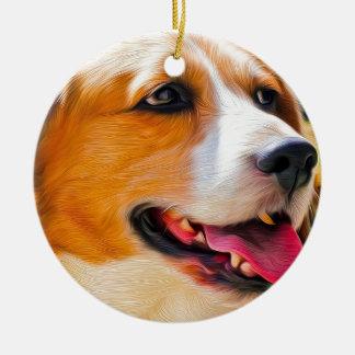 ビーグル犬の芸術 セラミックオーナメント