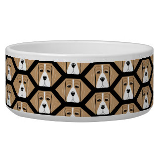 ビーグル犬の蜜蜂の巣パターン犬の皿