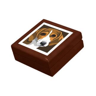 ビーグル犬の記念品箱 ギフトボックス