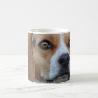 ビーグル犬の近い上り コーヒーマグカップ