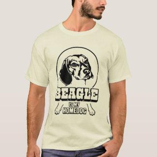 ビーグル犬は私のHomedogです Tシャツ