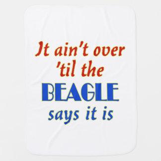 ビーグル犬は言います(カスタマイズ可能) ベビー ブランケット