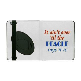 ビーグル犬は言います(カスタマイズ可能) iPad カバー