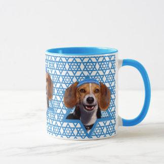 -ビーグル犬ハヌカーのダビデの星 マグカップ