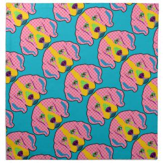 ビーグル犬パターンポップアート ナプキンクロス