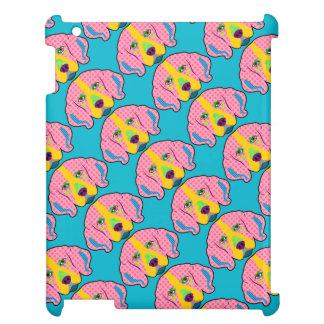 ビーグル犬パターンポップアート iPadケース