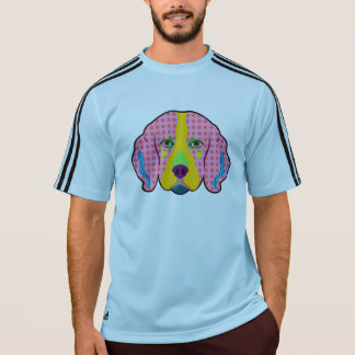 ビーグル犬パターンポップアート Tシャツ